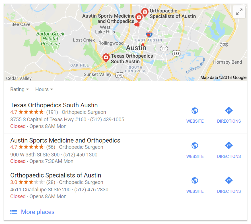 Google my business for doctors